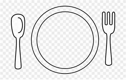 Clipart Setting Dinner Plate Clip Place Transparent