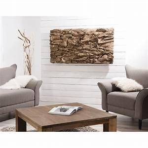 Decoration Murale Design : d coration murale en teck bois flott mod le n 15 150x80x10cm polo ~ Teatrodelosmanantiales.com Idées de Décoration
