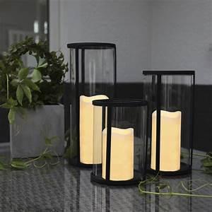 Laternen Für Aussen : glas windlicht xl laterne mit led kerze timer innen au en flammenlose candle xxl ebay ~ Markanthonyermac.com Haus und Dekorationen