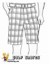 Golf Coloring Shorts Pages Ball Yescoloring Printable Tee Gusto Pga Slide sketch template