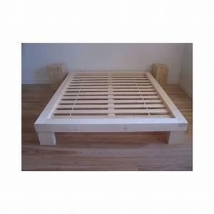 Cadre De Lit Pour Sommier Tapissier : sommier futon ~ Teatrodelosmanantiales.com Idées de Décoration