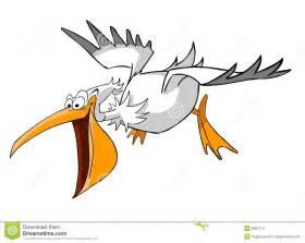 Cartoon Pelican Flying