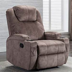 Canmov Recliner Chair With 2 Cup Holders  Manual Ergonomic