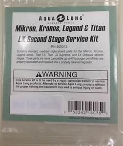 Aqau Lung Titan Lx  Legend  Mikron  U0026 Kronos 2nd Stg Kit 900012