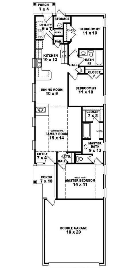 narrow house plans 653501 warm and open house plan for a narrow lot