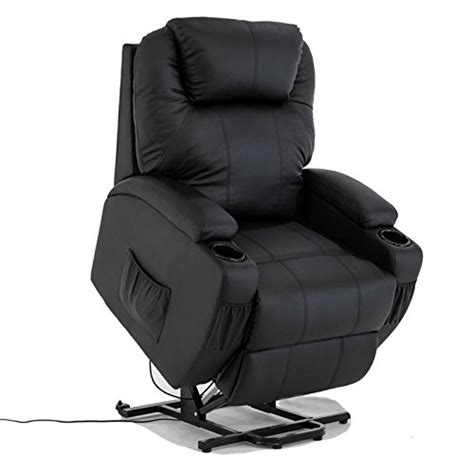 review electric real leather recliner armchair