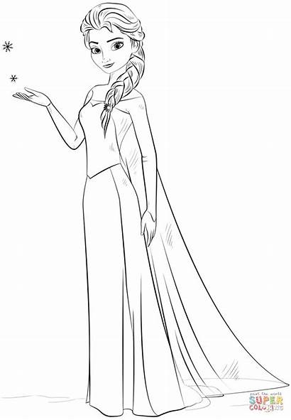Elsa Ausmalbilder Frozen Coloring Ausmalbild Aus
