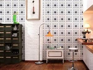 Papier Peint Carreau Ciment : papier peint tendances et conseils de mise en oeuvre ~ Melissatoandfro.com Idées de Décoration