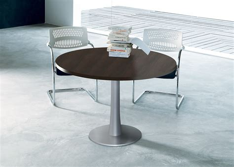 table de r 233 union ronde idea pied central quadrifoglio tables de
