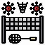 Court Badminton Icon