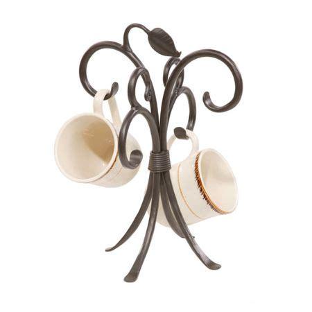 stone county sassafras mug rack iron accents