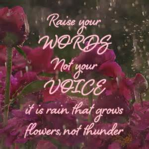Raise Your Words Not Voice