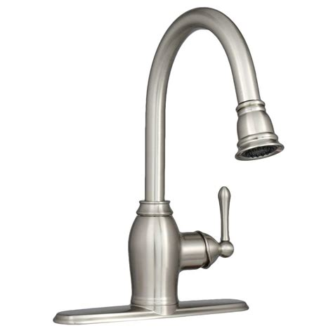 pull kitchen faucet brushed nickel ez flo metro collection european flair single handle pull