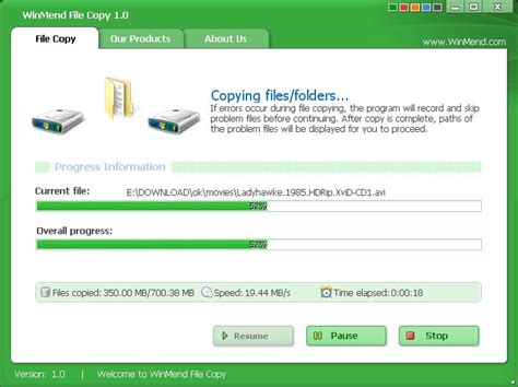 Windows Resume File Copy by Winmend File Copy Copy Tool Mit Resume Funktion Dr