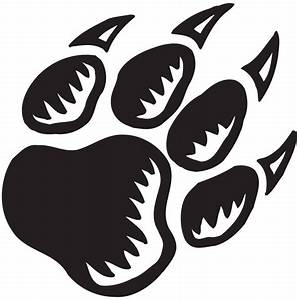 Bear Paw Print Stencil - Cliparts.co