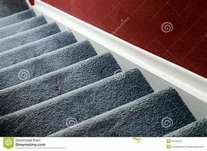 Escalier avec le tapis photo stock Image du perspective