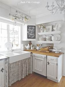 29 best shabby chic kitchen decor ideas and designs for 2018 With kitchen cabinets lowes with shabby chic wall art decor