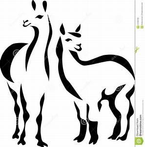 Llama stock vector Illustration of south, livestock