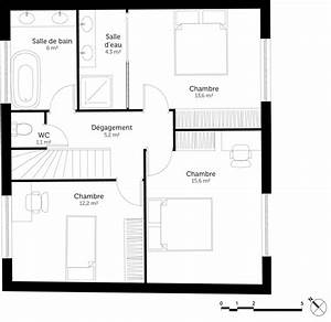 plan maison 3 chambres et terrasse ooreka With plan maison 1 chambre