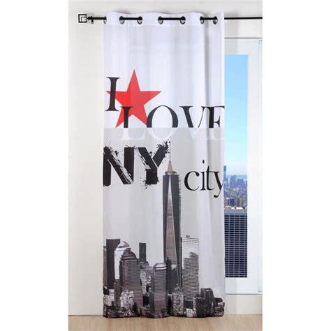 d馗o de chambre york rideau microfibre 135x250 cm i york city achat vente rideau cdiscount
