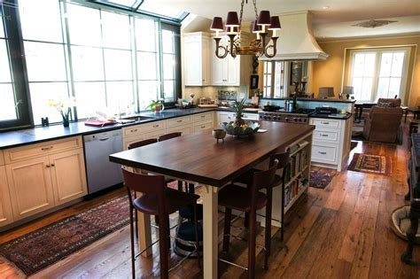 Longleaf Lumber   Reclaimed Kitchen With Walnut Countertop