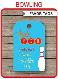 Circus Party Invitations Free Templates Bowling Party Favor Tags Thank You Tags Birthday Party
