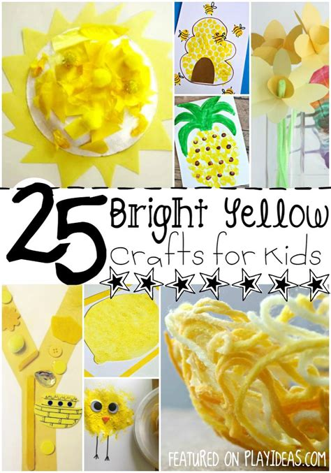 25 bright yellow crafts for preschoolers 858 | y is for yellow pinterest
