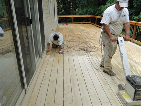 sanding a deck deck stain preparation by steeles paint in woodbridge vaughan woodbridge paint store