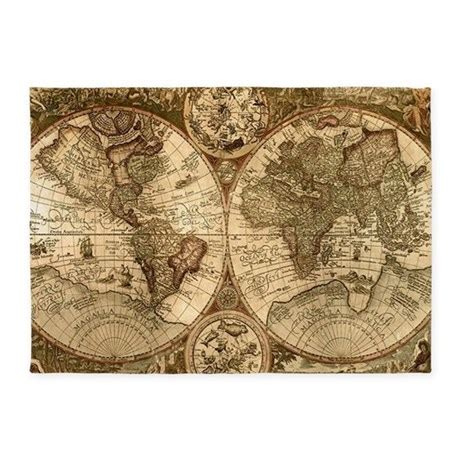 world map rug ancient map rug 5 x7 area rug by luxuriousglamorousdesigns