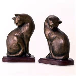 cat bookends nature s whimsy cat bookends