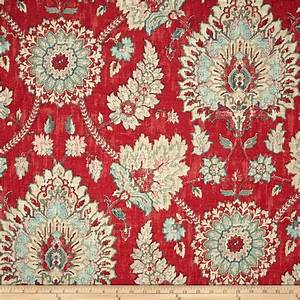 Waverly Clifton Hall Strawberry - Discount Designer Fabric