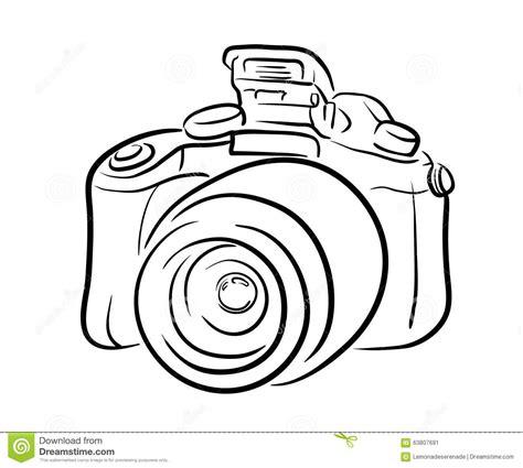 DSLR Camera Line Art Stock Vector - Image: 63807691