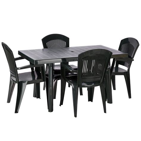 plastic table and chairs for garden home design