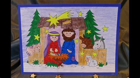 krippe basteln kinder weihnachtsbasteln mit kindern krippe zum aufstellen malen und basteln einfach