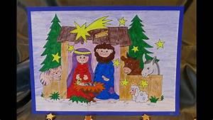 Malen Mit Kindern : weihnachtsbasteln mit kindern krippe zum aufstellen malen und basteln einfach youtube ~ Orissabook.com Haus und Dekorationen