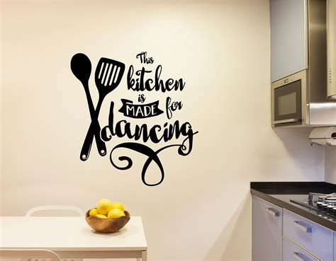 Kitchen Decor Vinyl by This Kitchen Is Made For Vinyl Decal Wall Stickers
