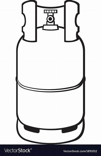 Gas Cylinder Vector Propane Royalty Vectorstock