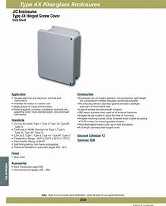 Cooper B Line Electrical Enclosures Jic Type 4x Hinged