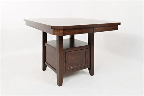 kitchen table with storage base high low table with storage base by jofran wolf and 8642