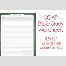Items Similar To Soap Bible Study Worksheets  Antique Paper  Religious Study Printable