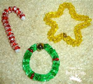 christmas ornaments made with beads