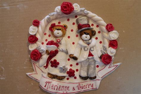 pate a sucre deco d 233 co de table en p 226 te 224 sucre pour l anniversaire de mariage de marianne et thierry