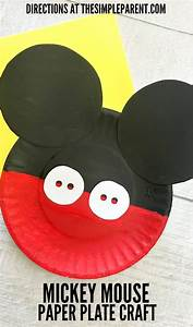 mickey mouse paper plate craft is great for your favorite