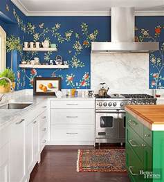 kitchen backsplash cheap 20 creative ways to use wallpaper in the kitchen