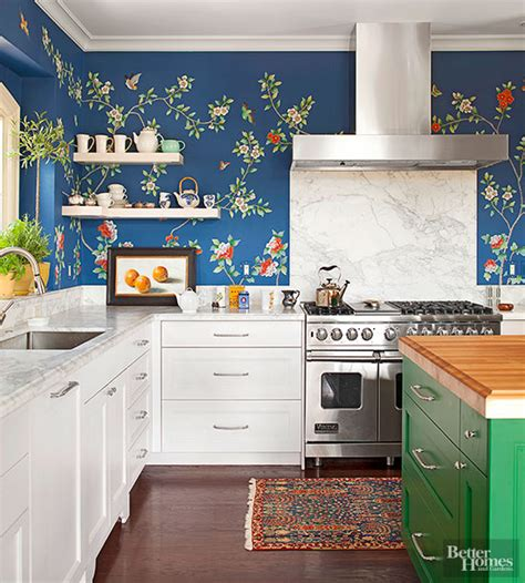 creative ways   wallpaper   kitchen