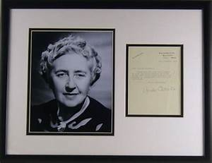 Agatha Christie Autograph Letter Signed Display