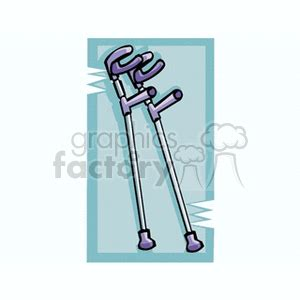 crutches  clip art images illustrations  royalty