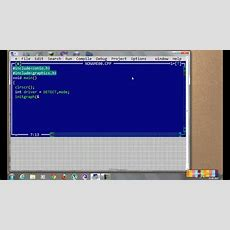 Create A Basic Graphics Program In C++ Youtube