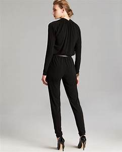 Royal Hair Color Chart Lyst Michael Michael Kors Belted Jumpsuit In Black