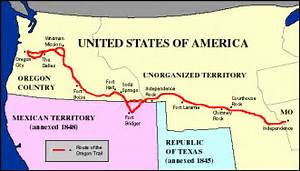 The Oregon Trail: 1843 Map Oregon